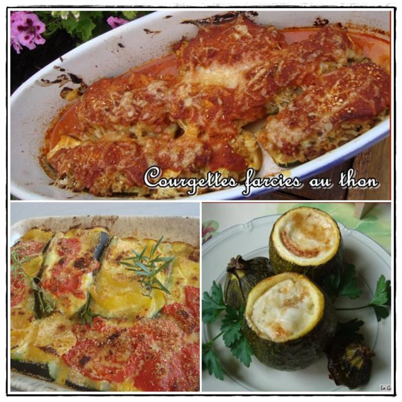 Courgettes rondes farcies la viande version avec ou sans - Courgettes farcies thermomix ...